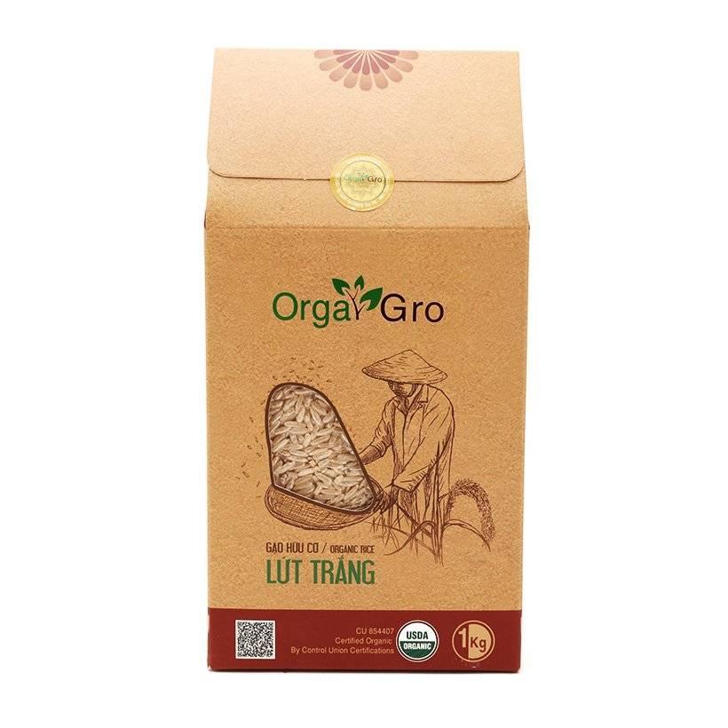 Gạo hữu cơ lứt trắng OrgaGro túi 1k