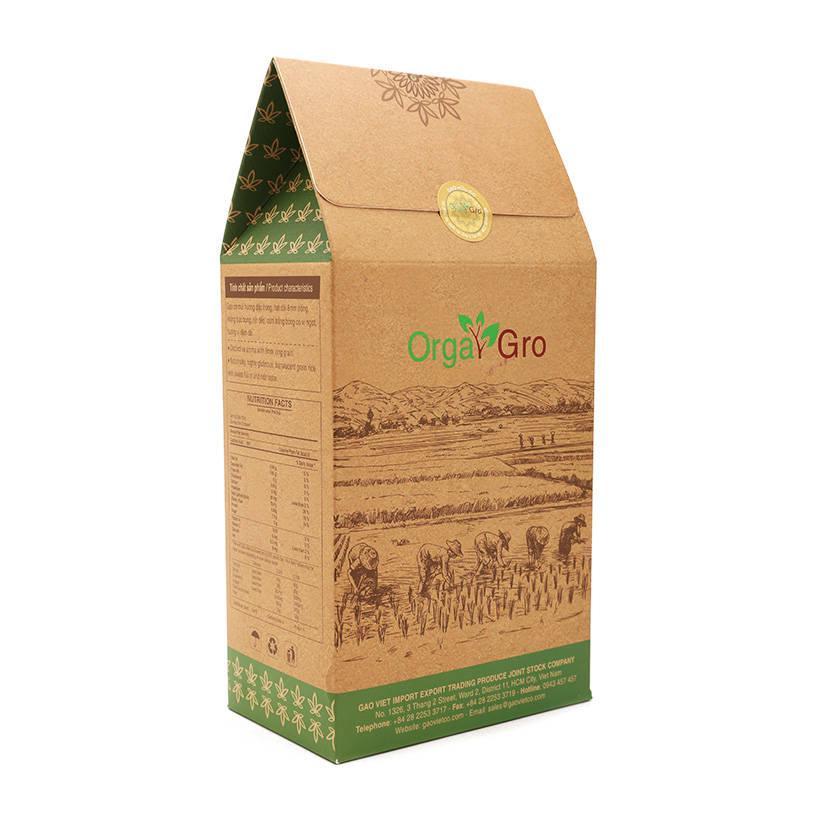 Gạo hữu cơ OrgaGro phú quý trắng túi 1kg